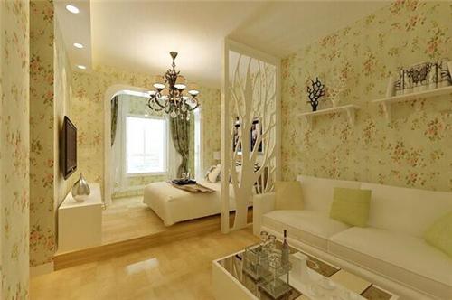 客厅隔卧室装修效果图 完美客厅卧室一体化装修