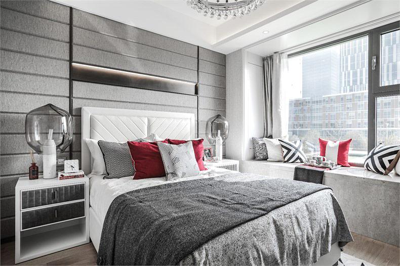 90平简约风格样板房主卧室装修