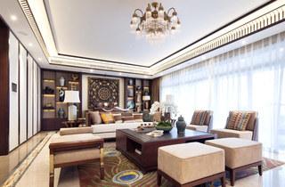 365平新东南亚风格客厅吊顶装修