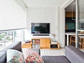 50平小户型一居室装修 阳台巧妙变客厅