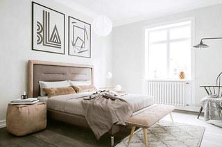 北欧风格单身公寓卧室效果图
