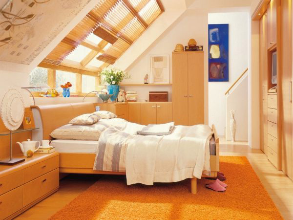 简约阁楼卧室装修装饰图