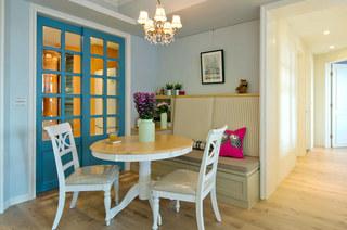 美式风格婚房装修餐厅圆桌图片
