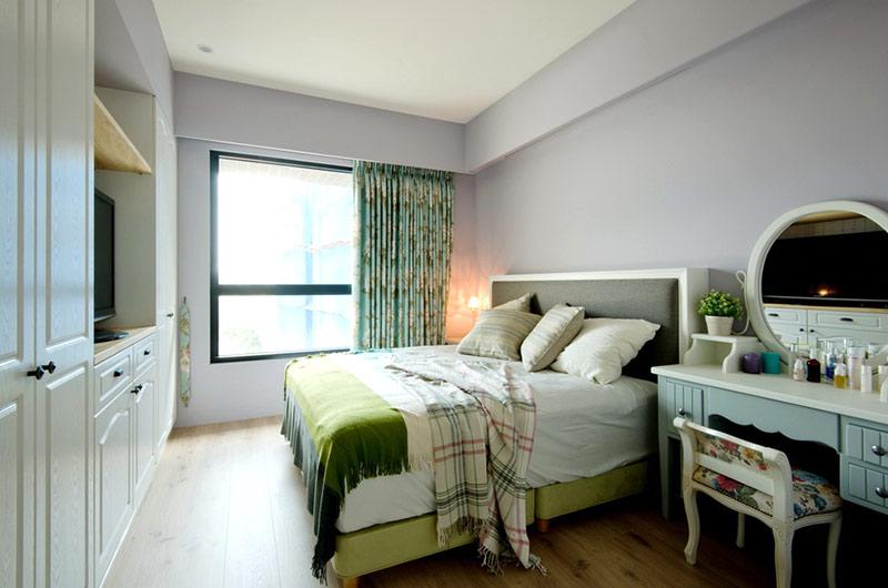 美式风格婚房装修主卧室设计