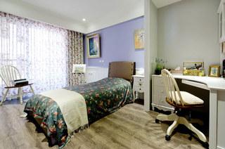 美式乡村风格装修卧室窗帘图