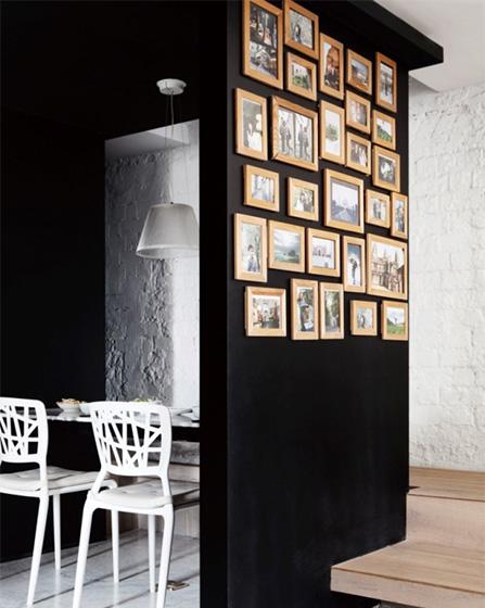 混搭风格客厅背景墙图片