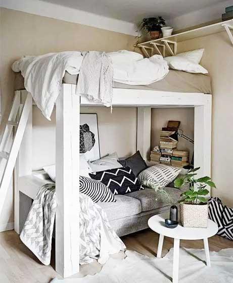 卧室高架床装修实景图