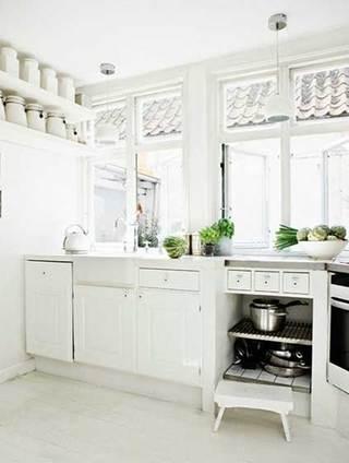 没有吊柜的厨房  10个收纳型厨房装修效果图7/10