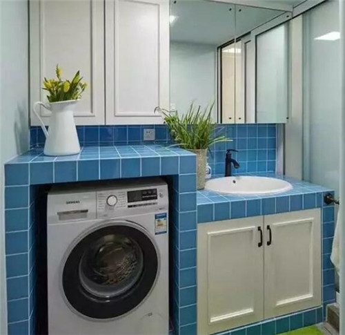 阳台洗衣台装修效果图 1㎡的洗衣台让洗衣更轻松