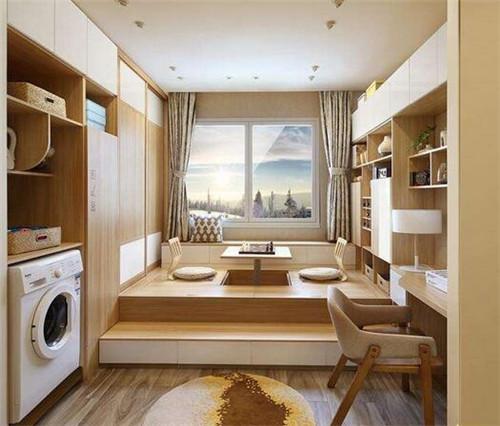 小书房床头设计带柜