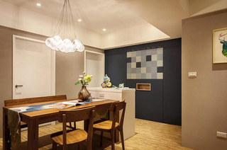 95平北欧风格二居餐厅装饰图