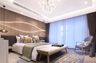 144平样板房装修主卧室效果图