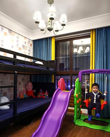 160平美式四房装修儿童房效果图