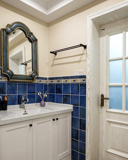 160平美式四房装修洗手台设计