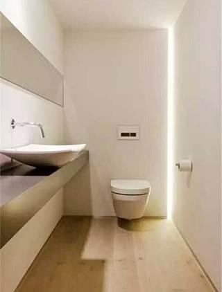 现代风卫生间隐形灯带装修图片