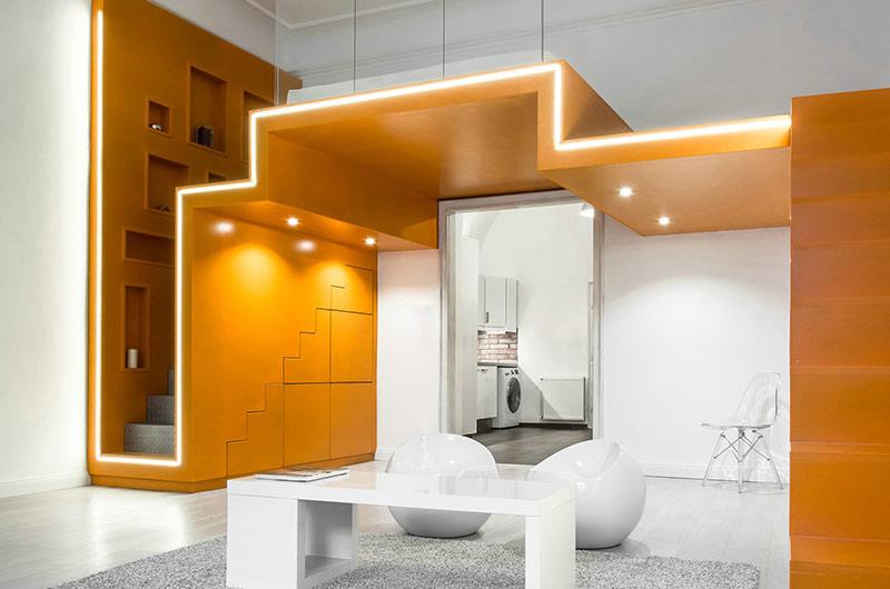 小户型loft公寓客厅装修设计