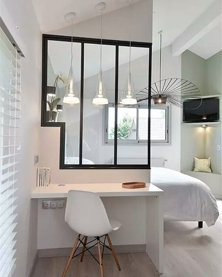 卧室书房玻璃隔断设计