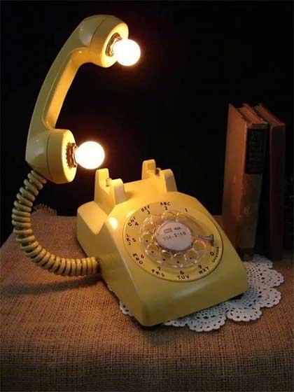 创意电话灯设计图片