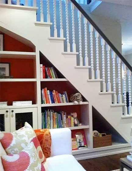 楼梯收纳柜效果图片