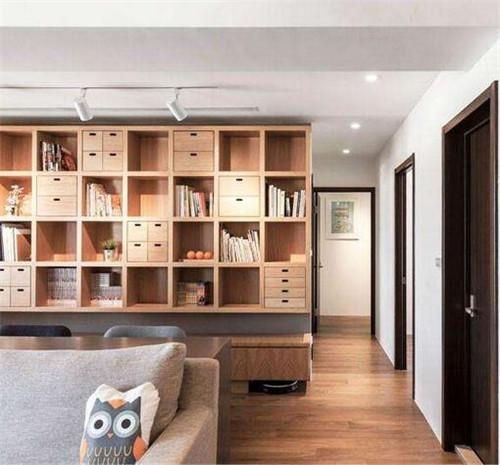 书架隔断效果图 巧用书架为家添个小书房图片
