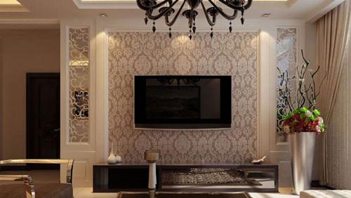 电视墙墙纸效果图 风格多样的电视墙墙纸