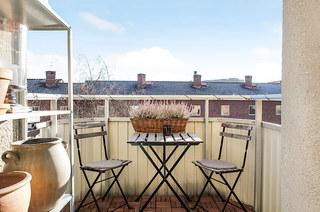 59平北欧风格一居阳台效果图