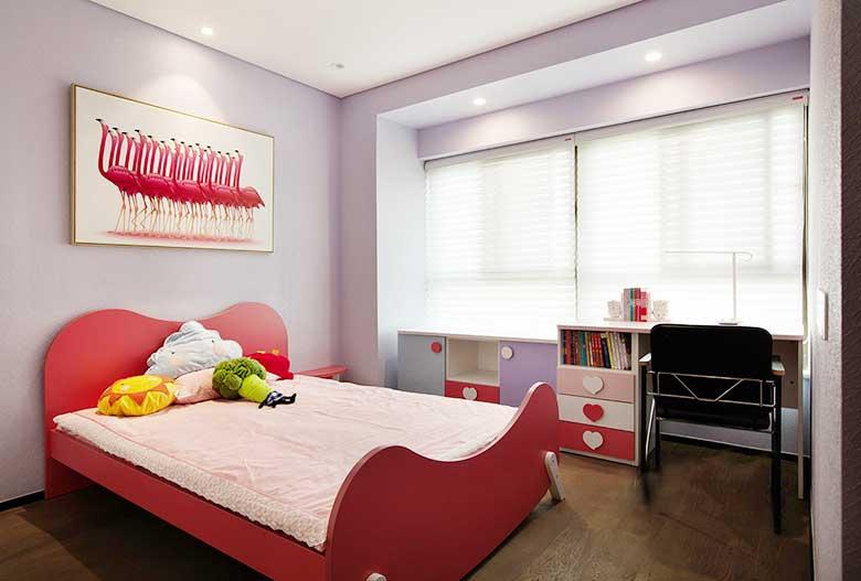 女孩卧室构造效果图