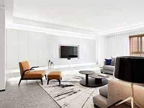 150㎡现代简约三居室效果图  幸福一家