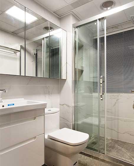 150㎡现代简约三居室卫生间欣赏图