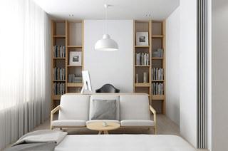 131平简约风格二居卧室书房装修