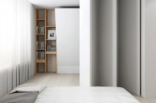 131平简约风格二居主卧室设计