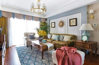 135平简美风格装修沙发背景墙装修