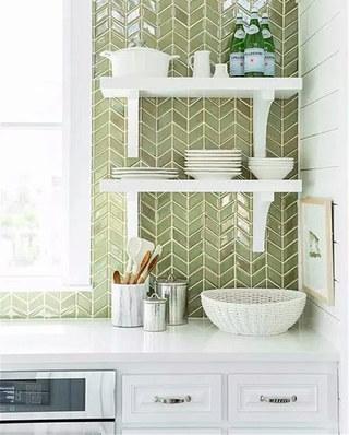 瓷砖装修厨房背景墙设计