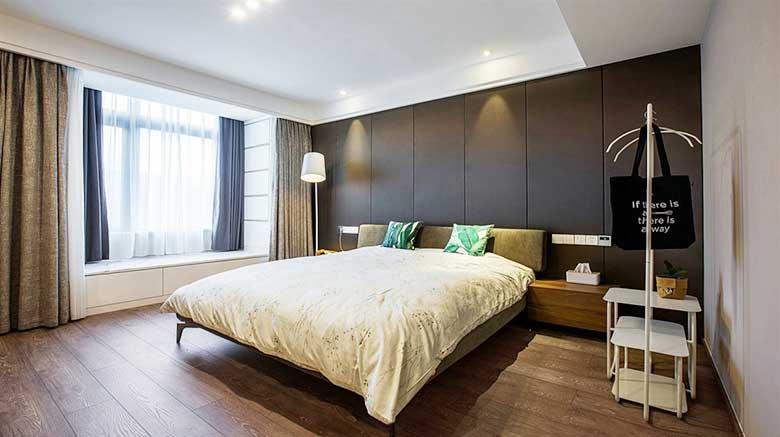 90平米简约风两居室卧室欣赏图