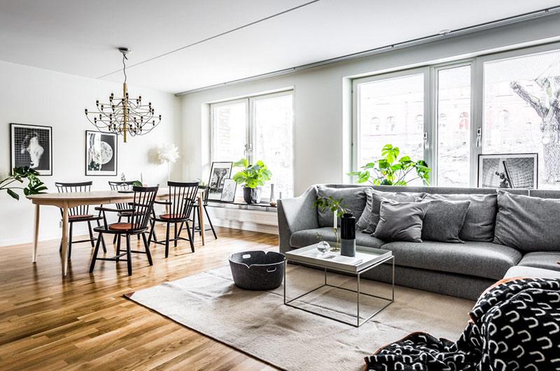 北欧风格二居室客厅地毯设计