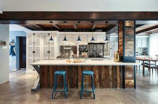139平混搭风格三居开放式厨房