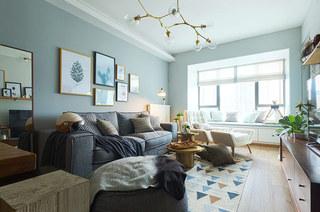 70平北欧风格二居客厅装修效果图