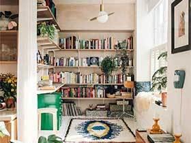 书中激情  10款墙面书架摆放设计图