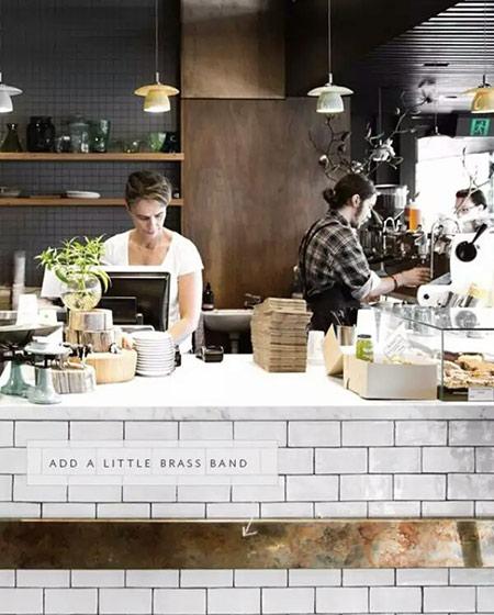 咖啡吧吧台装修效果图