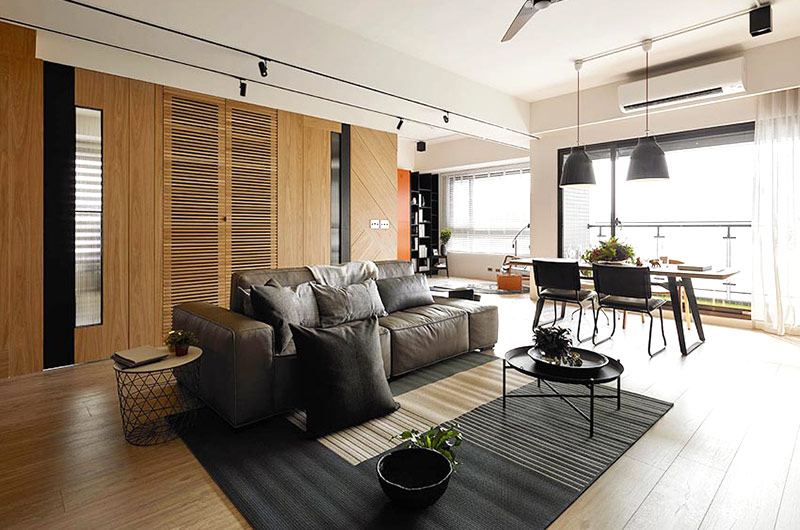 132平简约公寓装修客厅效果图