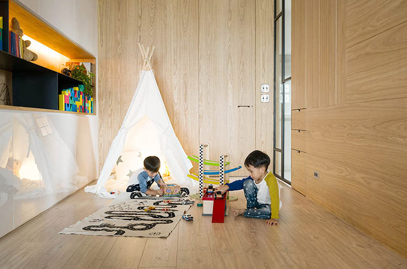 132平简约公寓装修儿童房装修