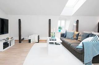 60㎡北欧风公寓设计客厅效果图