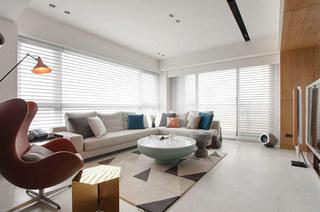 简约风格公寓转角沙发图片