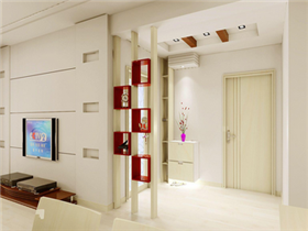 客厅进门屏风设计  木质屏风的风格