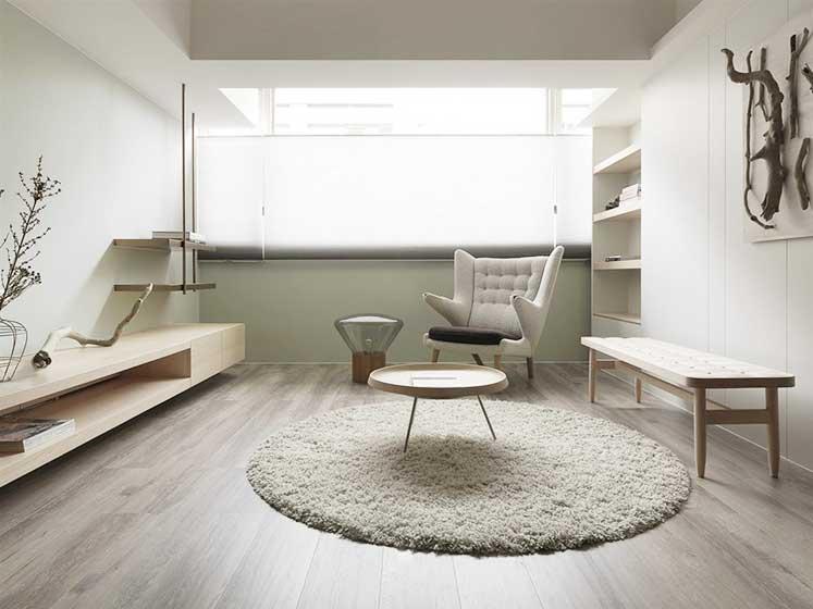 95平米极简两居室效果图