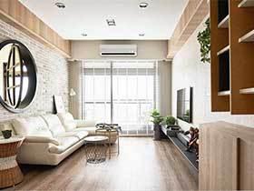 105㎡新中式两居室图片  温暖的华丽