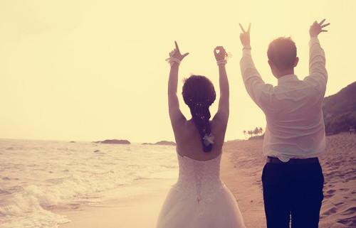 婚纱照海边外景图片欣赏 海边婚纱拍摄注意事项