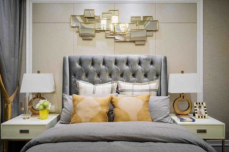 80平小三房装修卧室床头软包