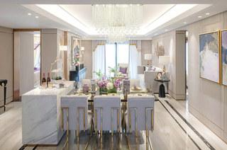 140平样板间装修餐厅效果图