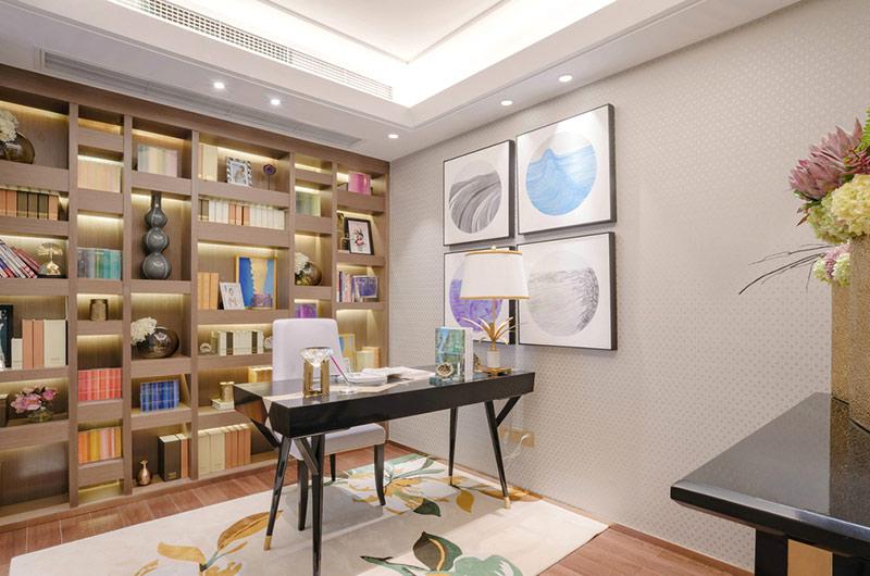 140平样板间装修书房装饰图